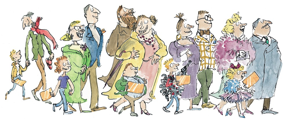 Minh họa Charlie and the Chocolate Factory, họa sĩ Quentin Blake   The Millennials Life